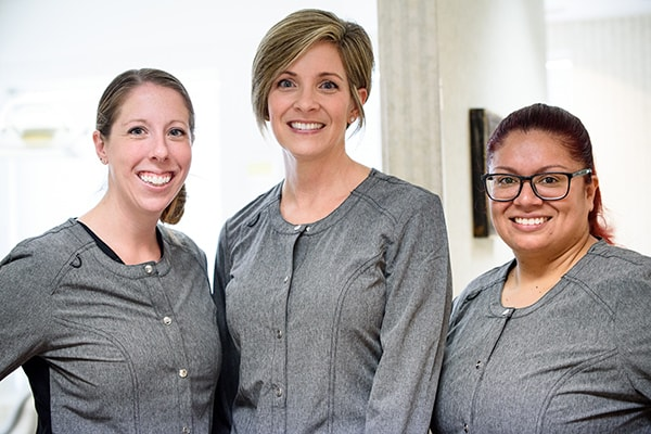 Our dental hygienists and assistant providing schaumburg dental services