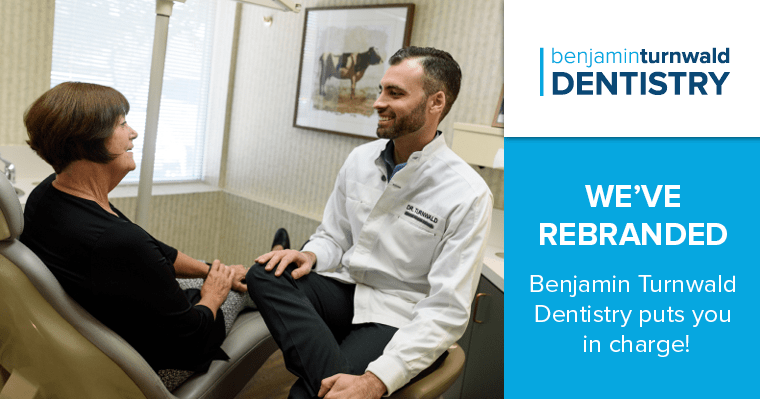 Dr. Turnwald talking to a patient at Benjamin Turnwald Dentistry. We've branded where you're in charge of your dental health.